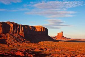 sentinel mesa bij zonsondergang foto
