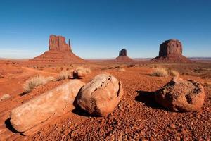 monument valley park op de grens van utah en arizona foto