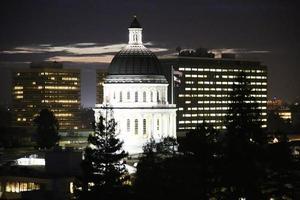de hoofdstad van Californië in Sacramento foto