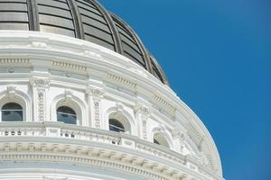 sluit omhoog van de bouw van capitol van Sacramento foto