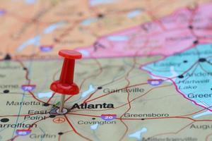 atlanta vastgemaakt op een kaart van de vs