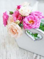 roze rozen foto