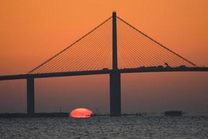 zonsopgang boven Tampa Bay foto