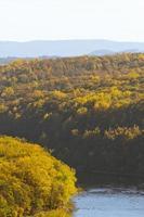 Delaware rivier herfst foto