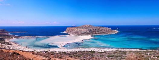 Balos strand panorama foto