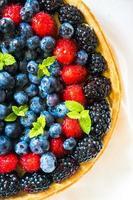 zomer bessen taart foto