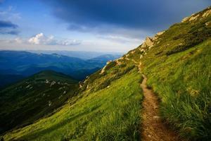 berg in de zomer foto