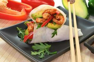 king prawn - avocado wrap