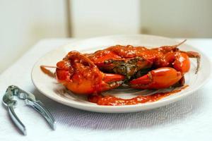 chili krab, pikante krab foto