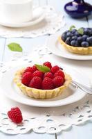 taartjes met frambozen