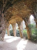 tunnel, parc guell foto