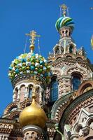 de kerk van de Verlosser op het Bloed, Sint-Petersburg foto