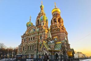 kerk van de Verlosser op het Bloed, st. Petersburg, Rusland foto