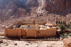 Sint-Catharinaklooster, berg Sinaï-Egypte foto