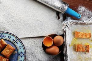 gebak op de pan foto