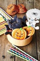 zelfgemaakte peperkoekkoekjes van halloween