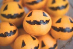 manadarin orange jack 'o lantaarns foto