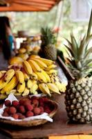 stand voor tropisch fruit foto