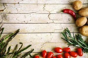 verse biologische groenten foto