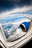 vliegtuig raam foto