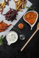 gezonde groentechips - patat bieten, selderij en wortelen