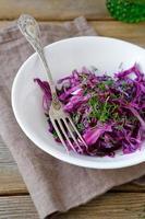 verse salade met kool foto