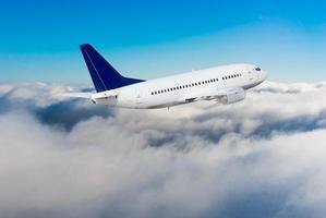 vliegtuig tijdens de vlucht