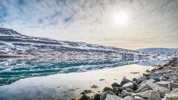 winterlandschap, IJsland