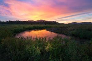 prachtig zonsonderganglandschap foto