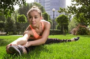 yoga vrouw foto