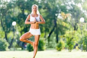 yoga beoefening foto