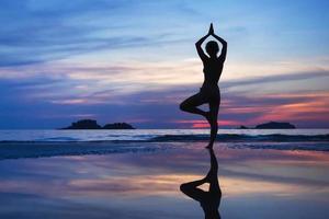 yoga achtergrond foto