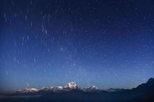 nacht laconiek landschap. foto
