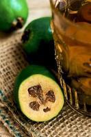 Feijoa compote, close-up, macro foto