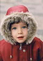 winter meisje foto