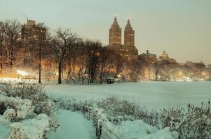 central park winter foto