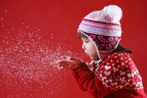 winter portret foto