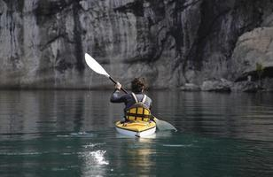 zeekajak in nationaal park, Patagonië