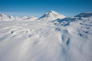 winter besneeuwde landschap in Groenland foto