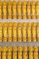 rijen van guanyin chinese godin standbeelden in thailand foto