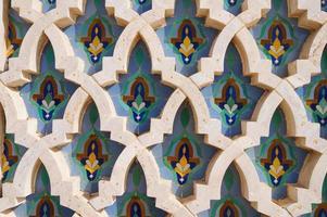 achtergrond in de moskee hassan ii, casablanca foto