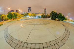 Cleveland centrum op bewolkte dag