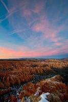bryce winter zonsopgang foto