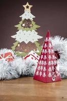 winter thema, kerst compositie foto