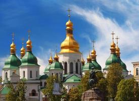 koepels van st sophia kathedraal foto