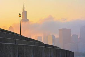 zonsondergang vanaf van museumcampus foto