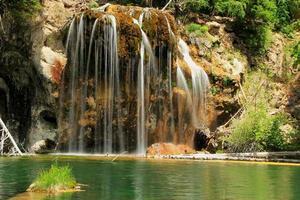hangend meer, Glenwood Canyon, Colorado foto