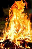 vuur buiten foto