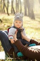 baby buitenshuis foto