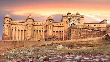 uitzicht op amber fort, jaipur, india foto